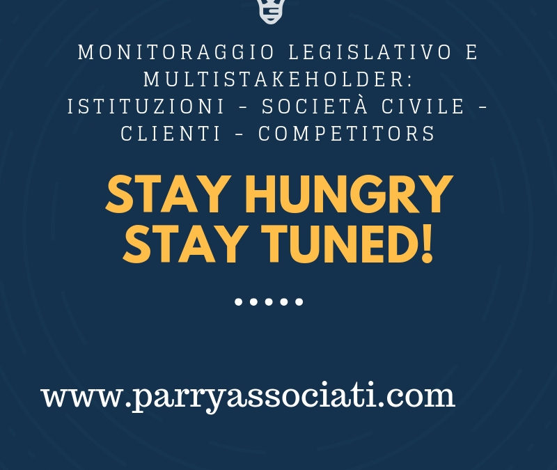 Monitoraggio Legislativo e Multistakeholder